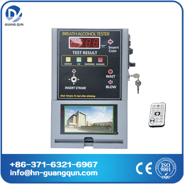 AT319V Coin operated alcohol Tester with video