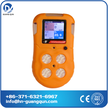 BX616 Portable 4-gas detector/gas leak alarm LEL,H2S,CO,O2 with CE