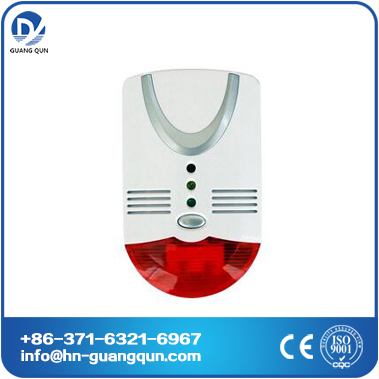 GK gas alarm combustible and CO/kitchen gas detector alarm with flat surfaced sensor